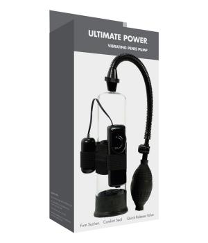 Linx Ultimate Power Vibrating Penis Pump Black