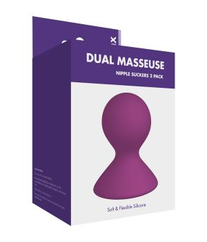 Kinx Dual Masseuse Silicone Nipple Suckers 2 Pack Purple