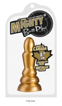 Mighty Butt Plug Metallic Color ca.15.0cm gold NETTO