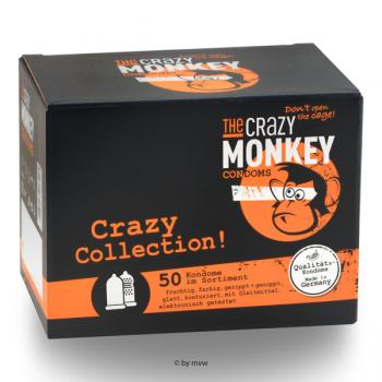 The Crazy Monkey Condoms Crazy Collection 50 pcs NETTO