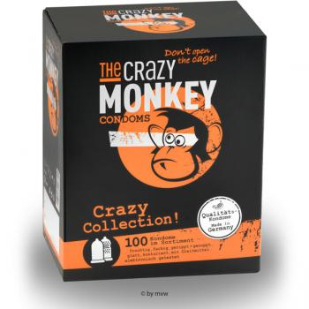The Crazy Monkey Condoms Crazy Collection 100 pcs NETTO