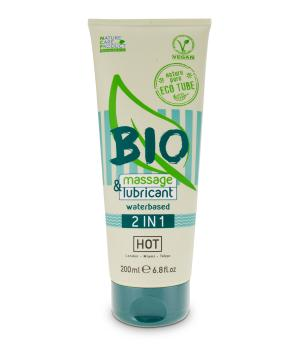 HOT BIO massage & lubricant waterbased 2 in 1 200ml NETTO