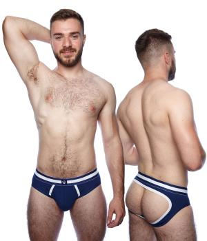 Prowler Classic Backless Brief Navy/White Large